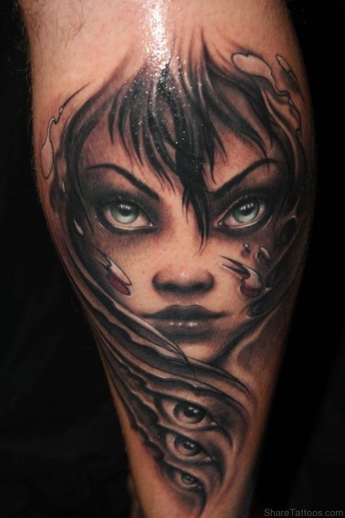 1000 ideas about girl face tattoo on pinterest woman - Wicked 3d tattoos ...