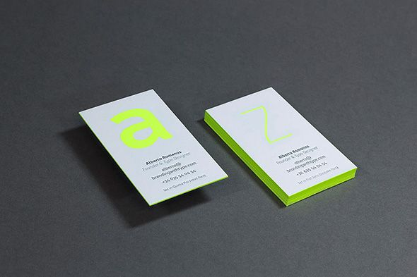Form the very beginning, it was clear for us that our business cards should showcase our fonts on the best possible way