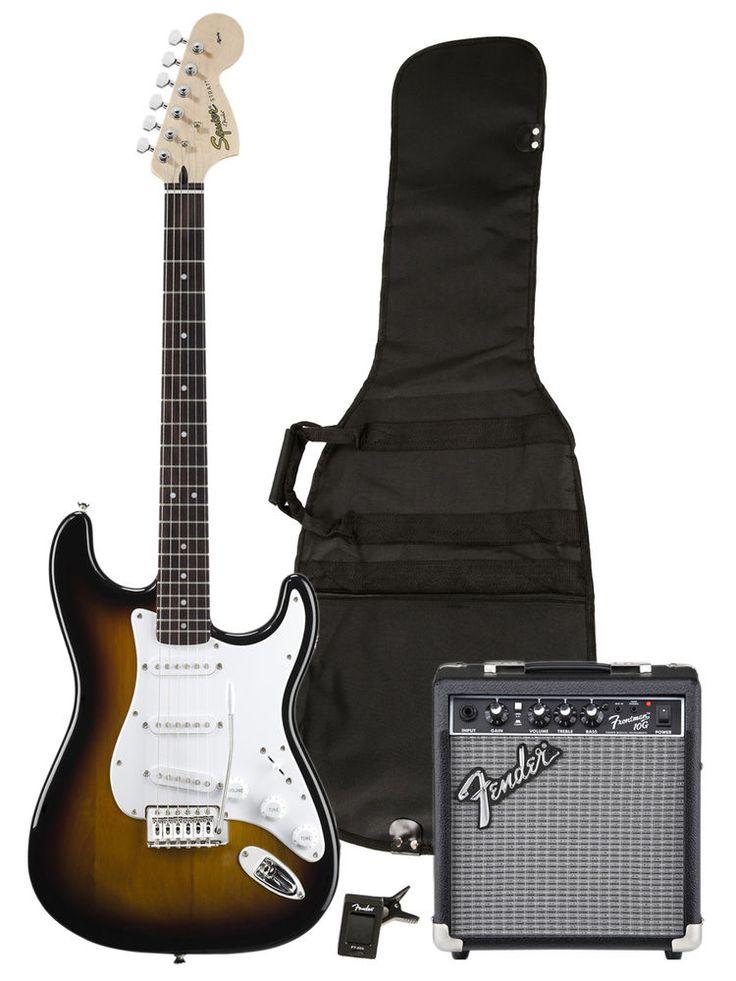 Fender Squier Strat Electric Guitar Bundle - Brown Sunburst #Squier