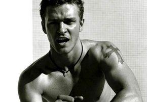 Обои Джастин Тимберлейк, Justin Timberlake, крест, рот