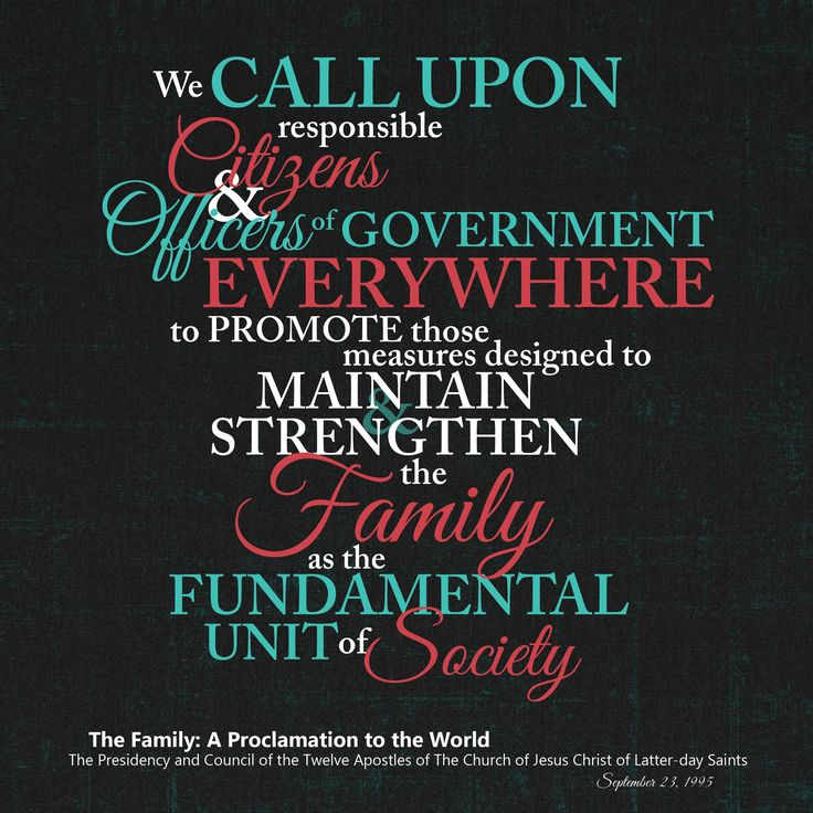"""Image result for Finally, it calls for the promotion of official """"measures designed to maintain and strengthen the family as the fundamental unit of society."""""""