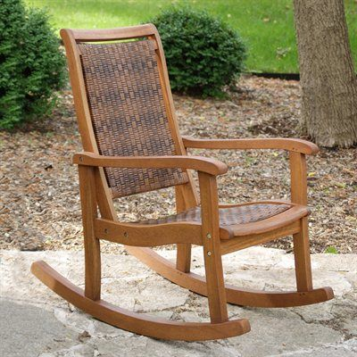 Outdoor Interiors 21095RC Outdoor Rocking Chair
