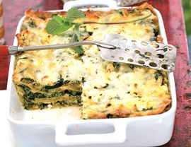 Three-cheese zucchini lasagna (for no meat Monday)