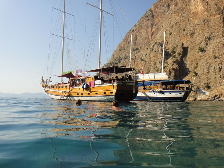 The Gulet that I spent 3 night on between Fethiye and Olympos as its anchored in Butterfly Bay.  In the water below there were turtles and a huge array of fish.  This was the moment that I decided I needed to get over my fear of open water and sharks so I could learn to Scuba Dive. Turkey 2011