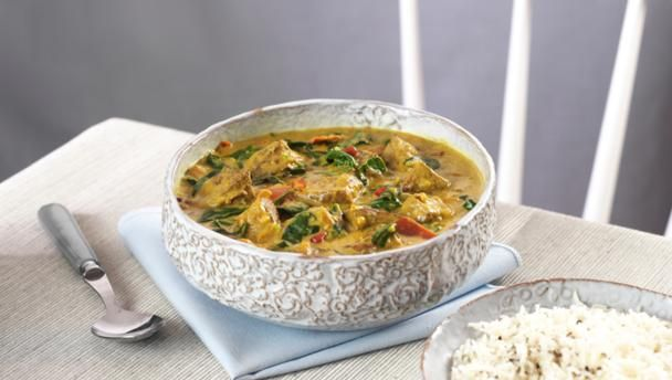 James Martin's easy lamb curry is an aromatic mix of fresh ginger, spices and coconut milk