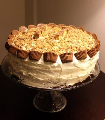 Peanut Butter Cake. I made this for my boyfriend's birthday and it was a hit!