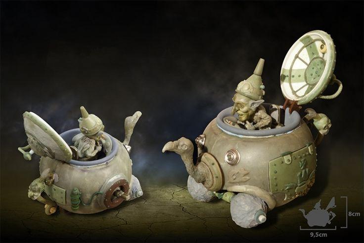 Goblin & the Steampunk Teapot - Master Sculpture