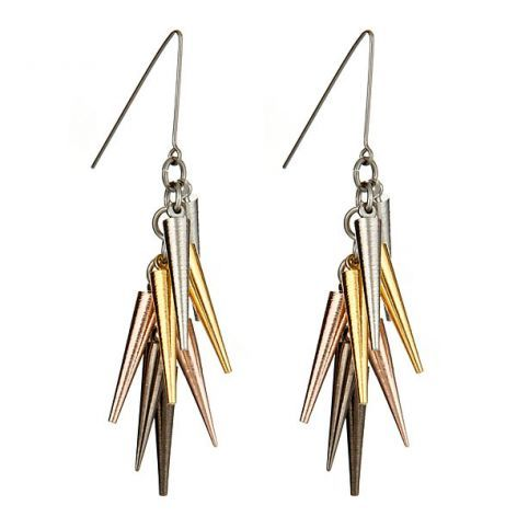 spike earrings. would add a touch of edge to any outfit!