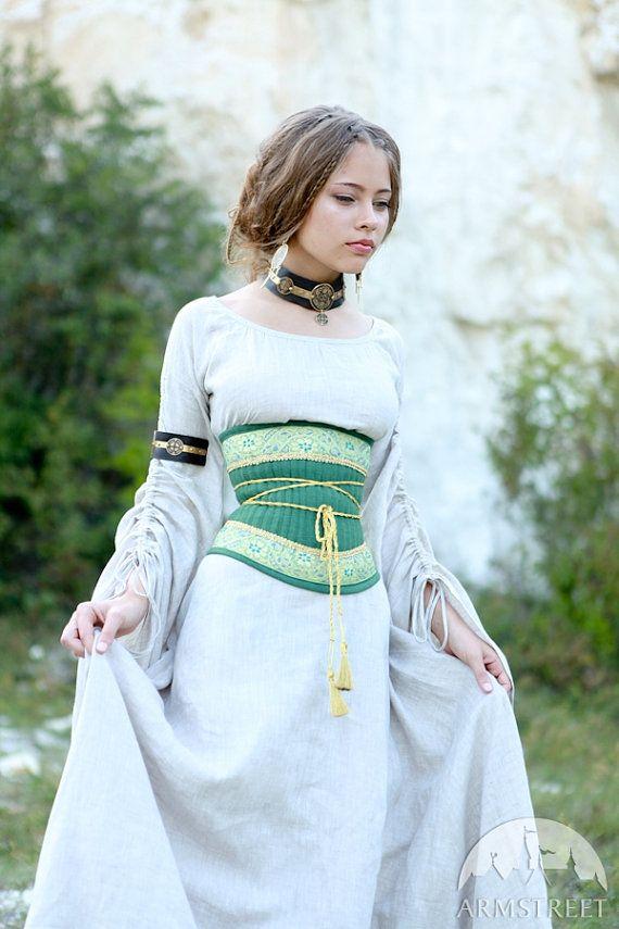PRECIO CON DESCUENTO Cinturón de lino corsé medieval
