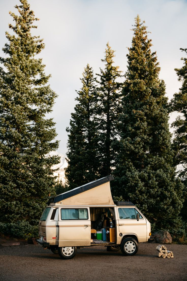 iampatrickchin:  Road trippin' through Colorado in an 80′s Volkswagen Vanagon for Death to Stock and Rocky Mountain CamperVans // October '15. by Patrick Michael Chin.