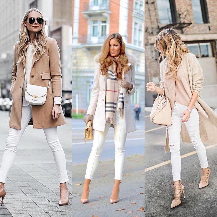 """1,283 aprecieri, 24 comentarii - @buscandoinspiracion pe Instagram: """"¿Pantalón blanco en invierno ? No hay duda .  @fashion_jackson y vía pinterest . #pantalonblanco…"""""""
