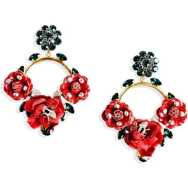 Dolce & Gabbana Earrings found on Polyvore featuring jewelry, earrings, red, red earrings, dolce&gabbana, pendant jewelry, dolce gabbana jewelry and clip back earrings