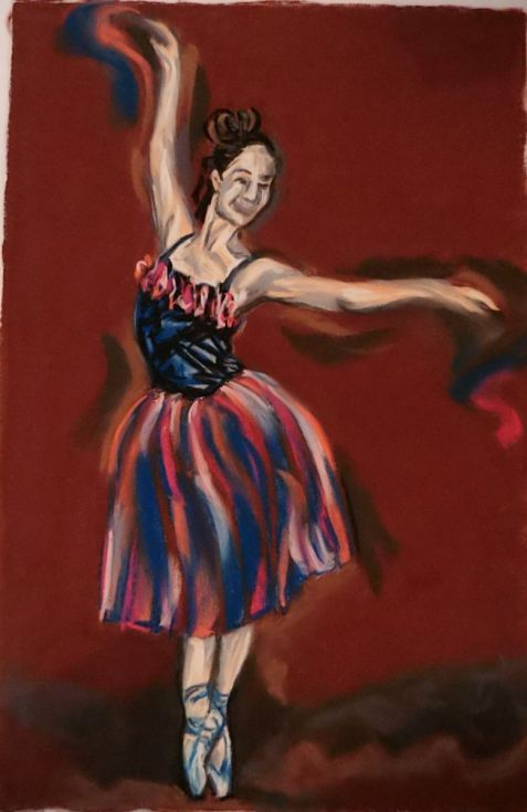 Buy Ballerina, Pastel drawing by Anna  Sasim on Artfinder. Discover original art for sale, paintings, prints, dance art from independent artists.Soft pastel art on Pastelmat paper, woman drawing, woman painting.