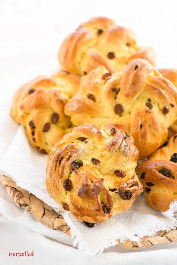 Rezept für Safranboller - Brötchen zum Frühstüc