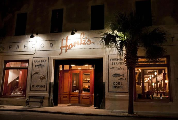 Hank's is one of the best restaurants in Charleston.  Located right behind N Market St.  My fav's are the Curry Shrimp or the Buttermilk Fried Chicken.  The Seafood Tower is HUGE!   Love the food and the atmosphere.
