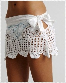What an adorable bathing suit cover-up!  Get an old lace table cloth and and a white sheet and you can make these for days.....how simple!