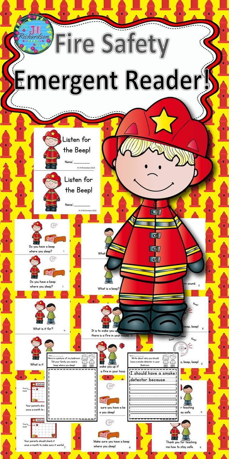 Do you need a Fire Safety emergent reader for your student's book boxes? Listen for the Beep teaches the students about the importance of a smoke alarm in their bedrooms. This book goes along with the NFPA emphasis for 2015. Included: Nine page booklet in color and black and white 2 Printables  Let the children put the book in their book boxes and practice reading for a week! Take it home and read it again and again!