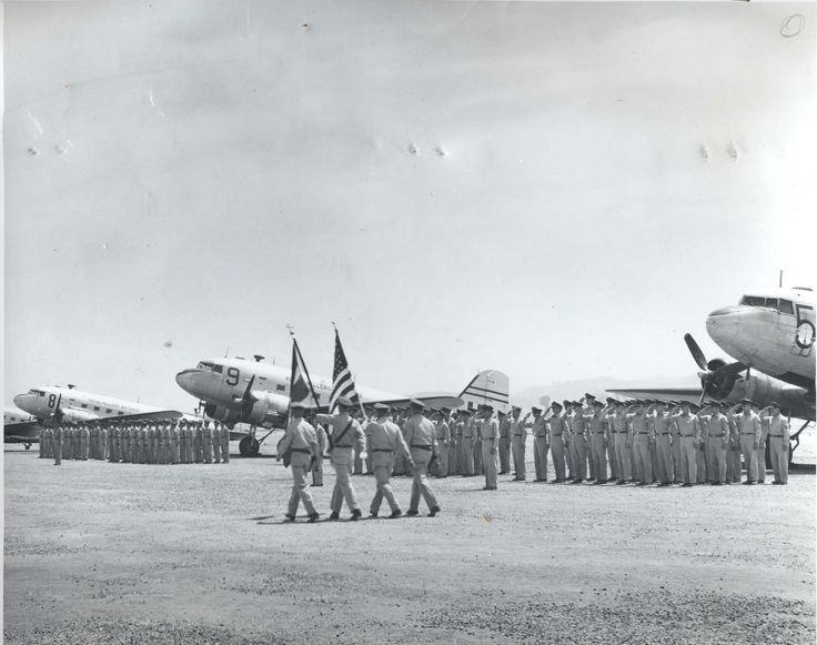 C-47D Dakota/Skytrain 13th SQ Korea .Korean War, 1950-53: Royal Hellenic Air Force 13 Transport Squadron arrives in Japan to get ready for combat deployment. The squadron remained in the Far East until May 1955.