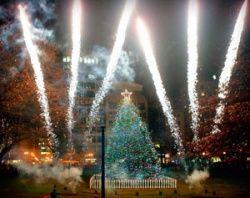 Boston Common Tree Lighting  at Boston Common  December 5, 2013
