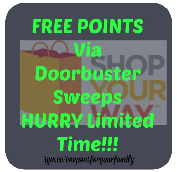 **HURRY*** FREE Shop Your Way Points via Sweeps- get up to $7 for free NOW : #CouponCode, #Coupons, #Kmart, #NationalStores, #Resources, #RewardPointPrograms, #Sears, #ShopYourWayRewards, #StoreCoupons, #Stores Check it out here!!