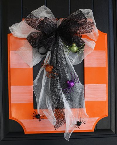 wholesale jewelry distributors From Frame to Wreath Look at how one of our fun frames was turned into a wreath for Halloween  This would be cute on any door