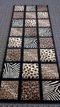 Hallway Rug Leopard Zebra Cheetah Print 32 in x 7ft Free Shipping | eBay
