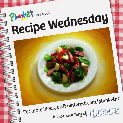 This quick and easy lamb salad from Huggies New Zealand will work well in any season. #RecipeWednesday