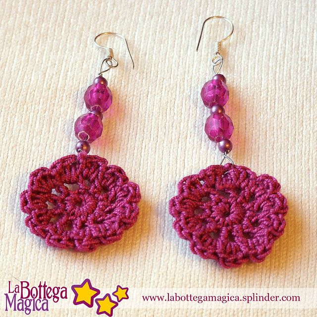 I've been looking for cute crochet earrings.