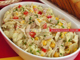 Receita de Salada de batata e frango