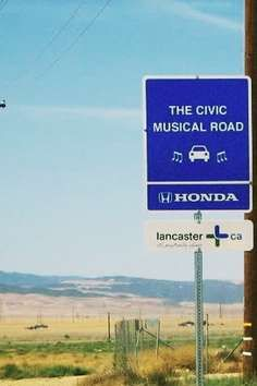 At first, America's musical road, located in Lancaster, California, was built as a commercial, but it became a hit with the locals that they decided to keep it.