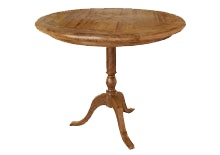 Brittany Parquetry 90cm Round Dining Table