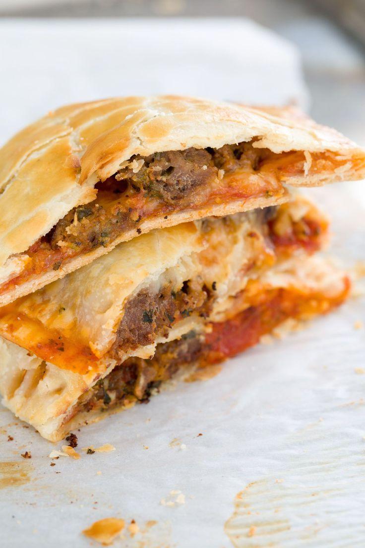 Imagine a meatball sub stuffed inside pie crust...yeah, we know. Get the recipe.   - Delish.com