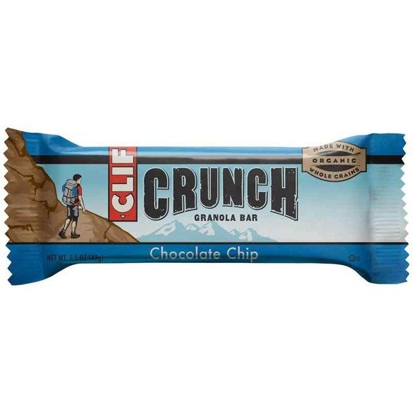 CLIF CRUNCH Granola Bar Chocolate Chip (1.48 oz, 5 Two-Bar Pouches) ❤ liked on Polyvore featuring food, fillers and food and drink