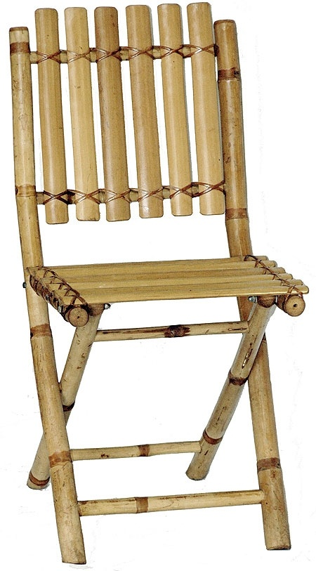 Bamboo Folding Chair - Woven Back | Bamboo Furniture | Bamboo and Tikis - $63.11