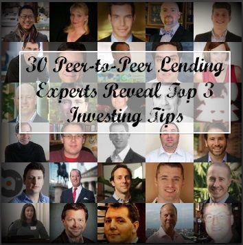 30 peer-to-peer lending experts reveal top 3 #investing tips