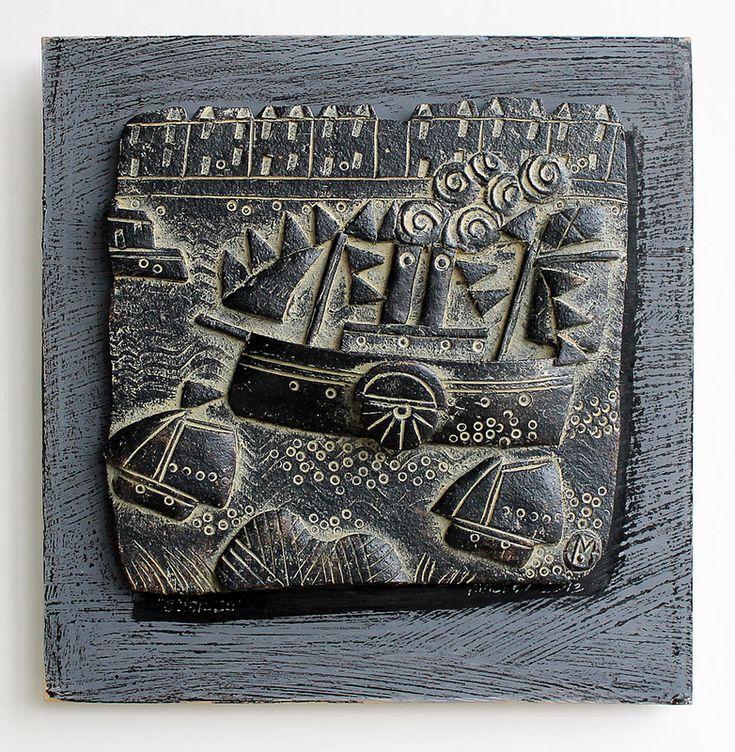 John Maltby: Regatta, Ceramic tile, 28 x x28 cm £325