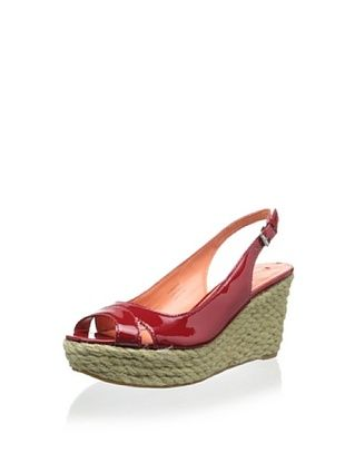 73% OFF Via Spiga Women's Mahala Slingback Wedge (Classic Red)