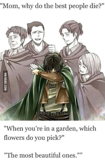 The feels... Attack on titan is my all time anime favorite...
