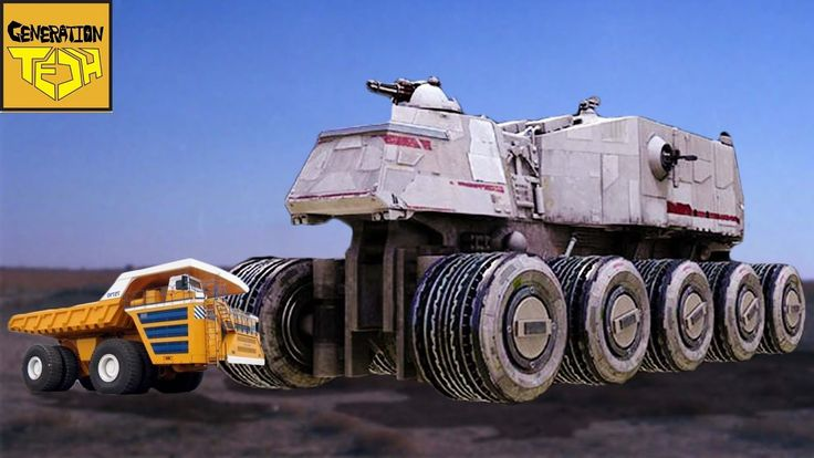 The REAL SIZE of STAR WARS GROUND VEHICLES