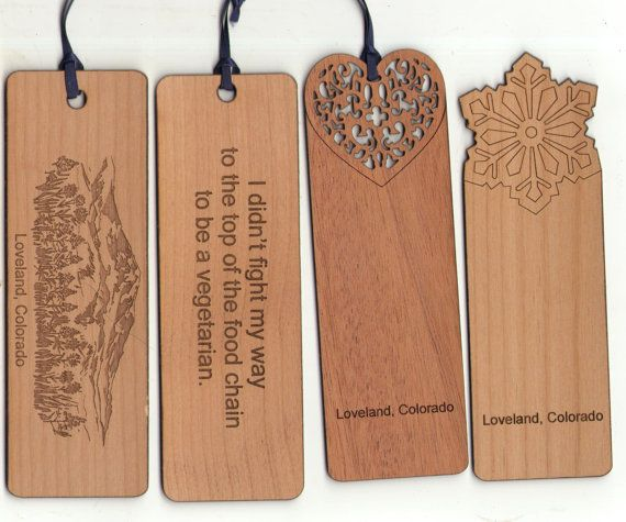 Laser Engraved double sided wood custom bookmark