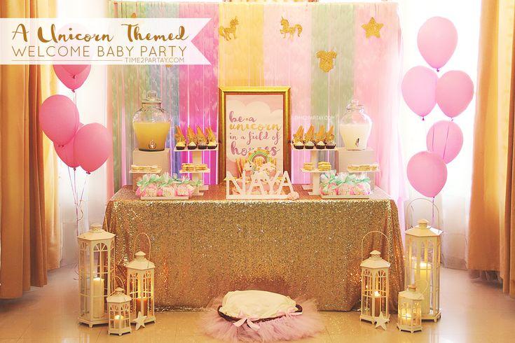 Unicorns Baby Shower Party Ideas | Photo 1 of 17