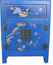 Chinese Blue Bedside Table from Admiralty Antiques
