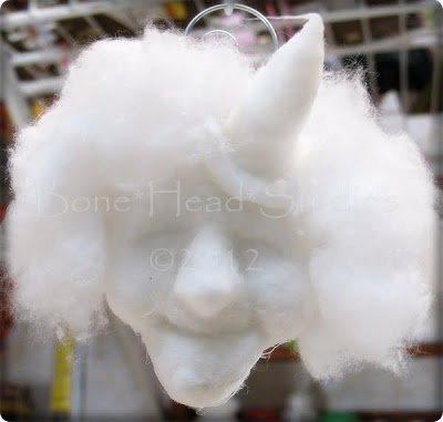 Bone Head Studios: tutorial for spun cotton witch