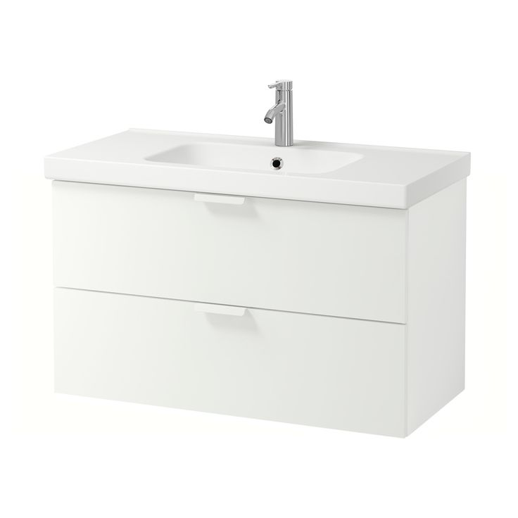 IKEA – GODMORGON / ODENSVIK Sink cabinet with 2 drawers white