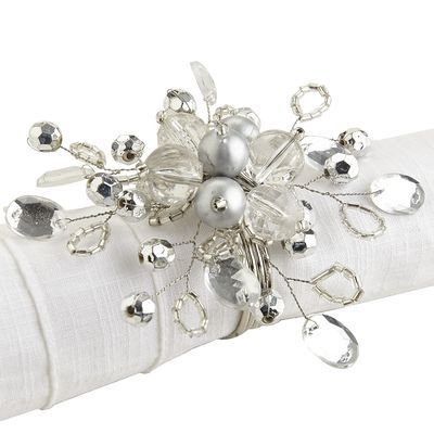 Silver Beaded Napkin Ring                                                                                                                                                                                 More