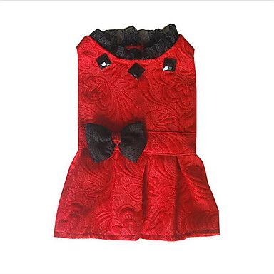 Dog+Dress+Dog+Clothes+Casual/Daily+Princess+White+Black+Red+–+USD+$+8.99