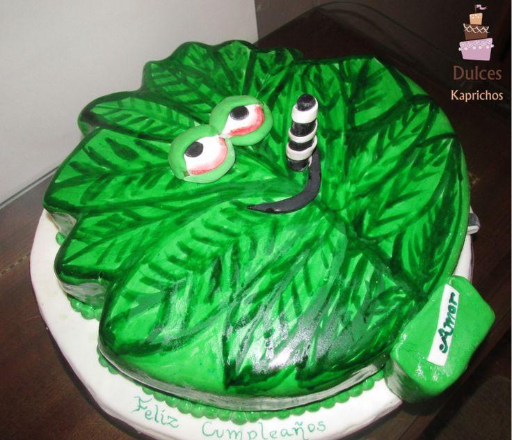 Torta Artística Cannabis #TortaCannabis #TortasArtisticas en #DulcesKaprichos facebook.com/dulces.kaprichos.chile