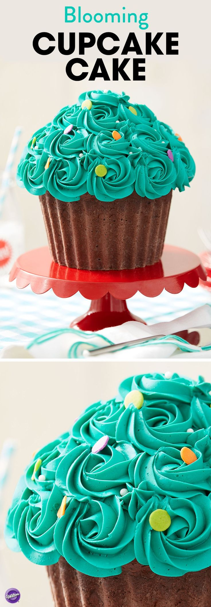 What's better than a cupcake? A giant cupcake! Just in time for your Easter and spring celebrations, this Blooming Cupcake Cake will be the hit of your party. Use the Dimensions Giant Cupcake Pan to easily create this cake.