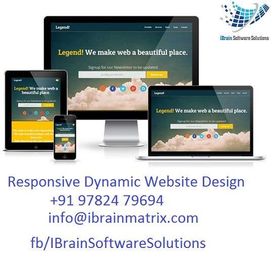 Available Excellent Responsive Website Design Services Today. Call: +9197824 79694, info@ibrainmatrix.com!! Visit at http://www.ibrainsoftwaresolutions.com/ ‪#‎Responsivewebdesign‬ ‪#‎Websitedesign‬ ‪#‎Webdesign‬ ‪#‎MobileResponsivedesign‬