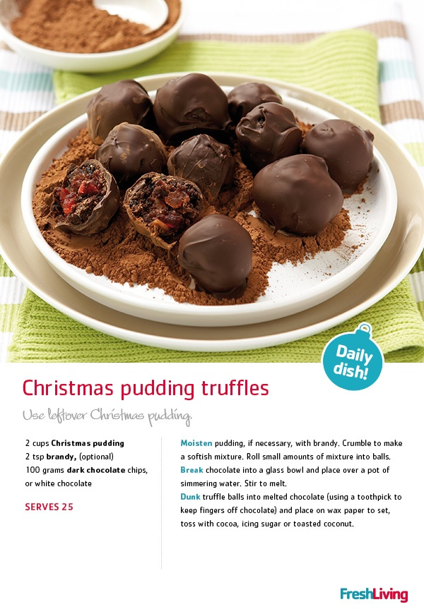 Half the fun of #Christmas is the prepping of all the really #yummy food. Just be warned: you'll want to munch on these Christmas pudding #truffles while you're making them (so be sure to make extra!)